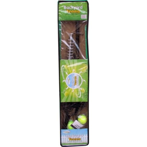 Backyard Games - Backyard Tennis Set  ||  I bought a totem tennis set that was very disappointing because it doesn't have a swivel at the top and while the kids are still learning to hit it consistently the game finishes too fast.  This would be more enjoyable. #Entropywishlist #pintowin