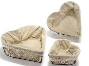 Cestino medio metallo a forma di cuore rivestito in stoffa arredo casa country  | eBay