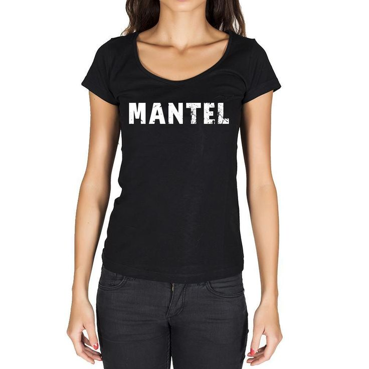 mantel, German Cities Black, Women's Short Sleeve Rounded Neck T-shirt