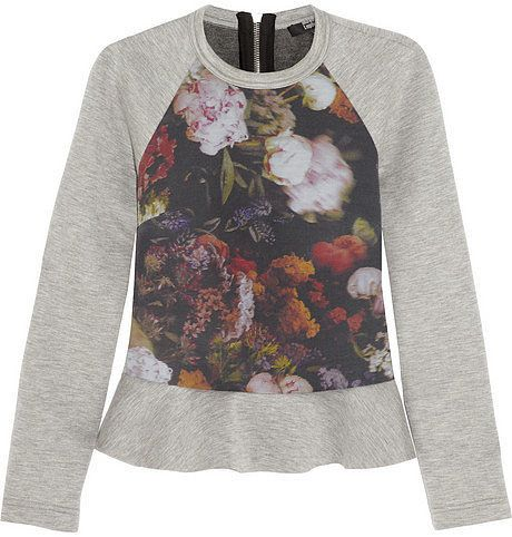 On my list of sewing projects for fall --> The Formal Sweatshirt: Cotton pullovers go from the treadmill to the runway.