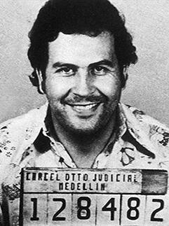 OldSchoolNotsoCool?...Mugshot of Drug Lord Pablo Emilio Escobar Gaviria which shattered his dream of presidency (who knew?) (1982)
