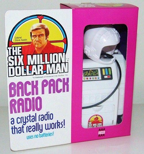 The Six Million Dollar Man Back Pack Radio (Crystal Radio)