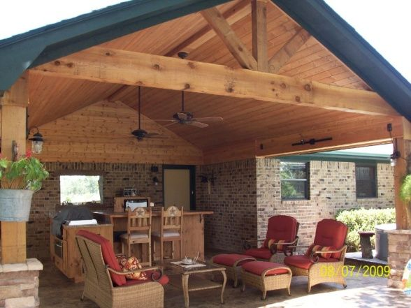 Covered outdoor kitchens and patios rustic outdoor - Covered outdoor living spaces ...