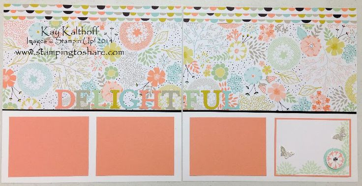 March Scrapbook Pages - Part Two, Kay Kalthoff, Stamping to Share, Stampin' Up!, Sweet Sorbet Designer Series Paper, 12x12 Pages
