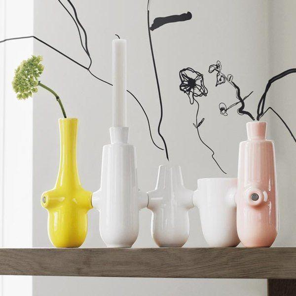 Fiducia vase og lysestake