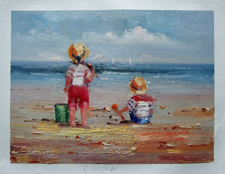 95 Best At The Beach Painting Art Images On Pinterest