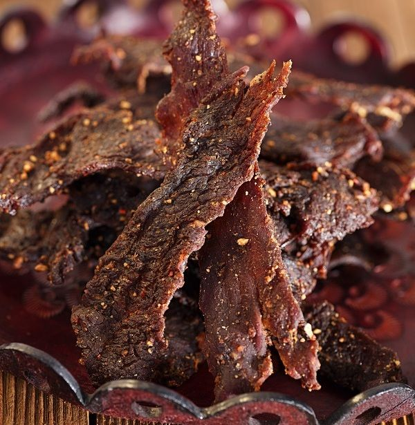 Legendary Whitetales Beef Jerky!!!! So ADDICTING!  Great snack for the long days on stand.