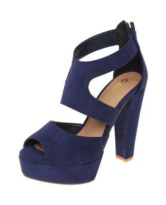 Sandalia Azul con Plataforma