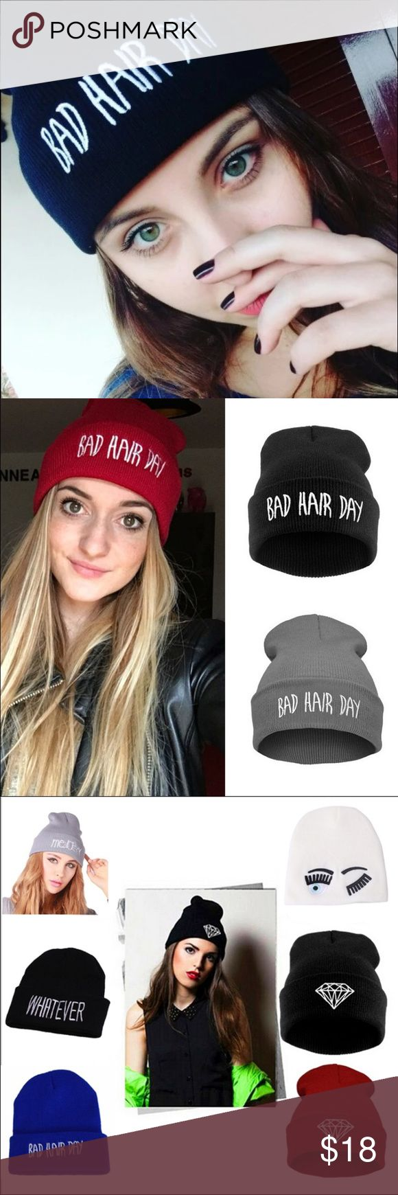 """Only Today ❗️Bad Hair Day  Super cool  for those bad hair days  ❗️ only """"bad hair day"""" in black and gray available ❗️ Accessories Hats"""
