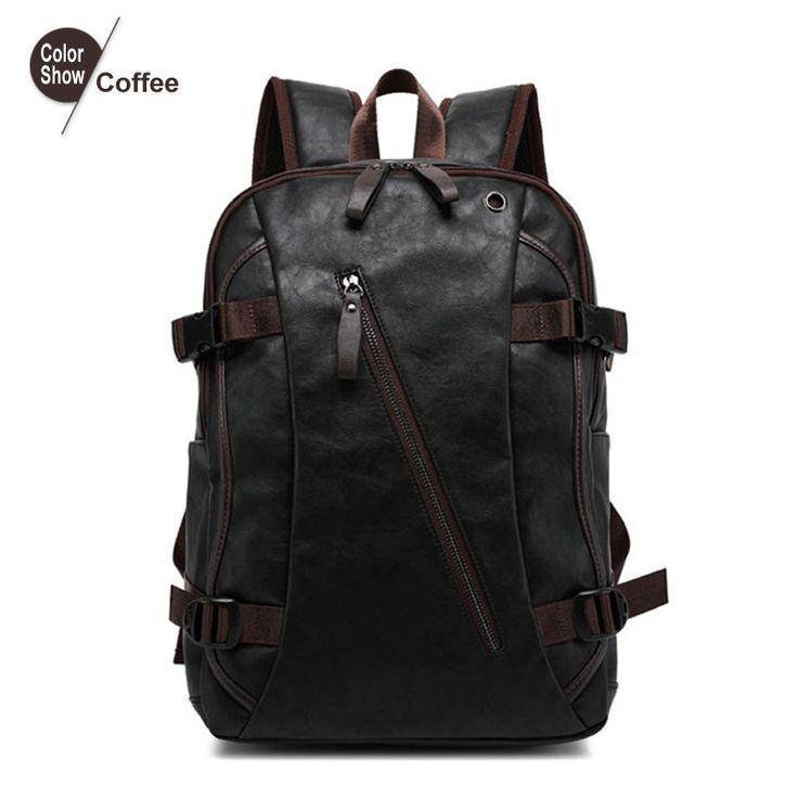 RoyaDong Men's Backpack Pu Leather Tactical Backpack Laptop Backpacks Travel Lay Bag Camping Hiking 2016 Rucksack Bagpack
