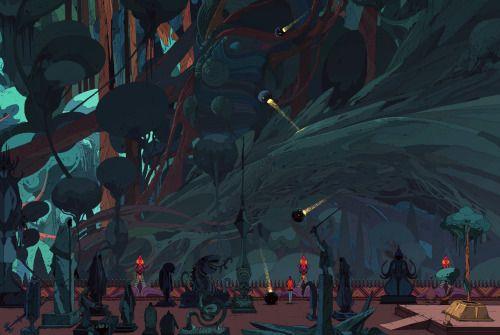 """dwdesign: """" Forest detail. Work in progress by Kilian Eng """""""