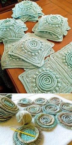 Crochet Granny Squares--in Russian. Just mainly for inspiration. Beautiful!!
