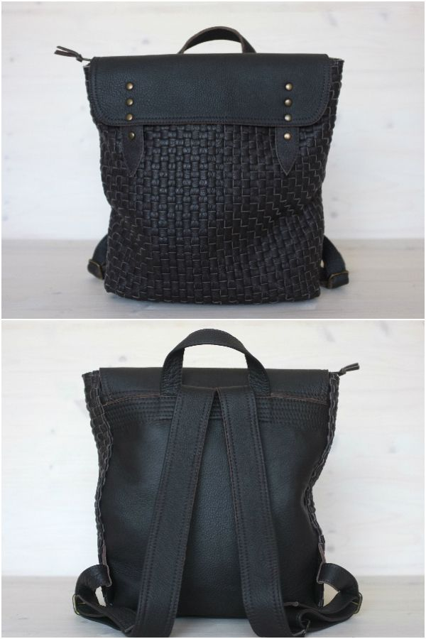 330d9c925ed2 Handwoven leather backpack from Distories on Etsy  leather  leatherbackpack   backpack