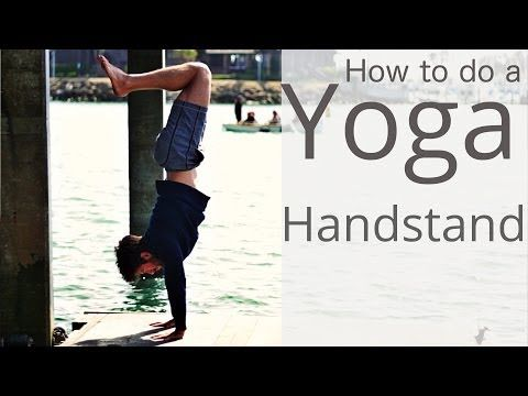 how to get into handstand yoga