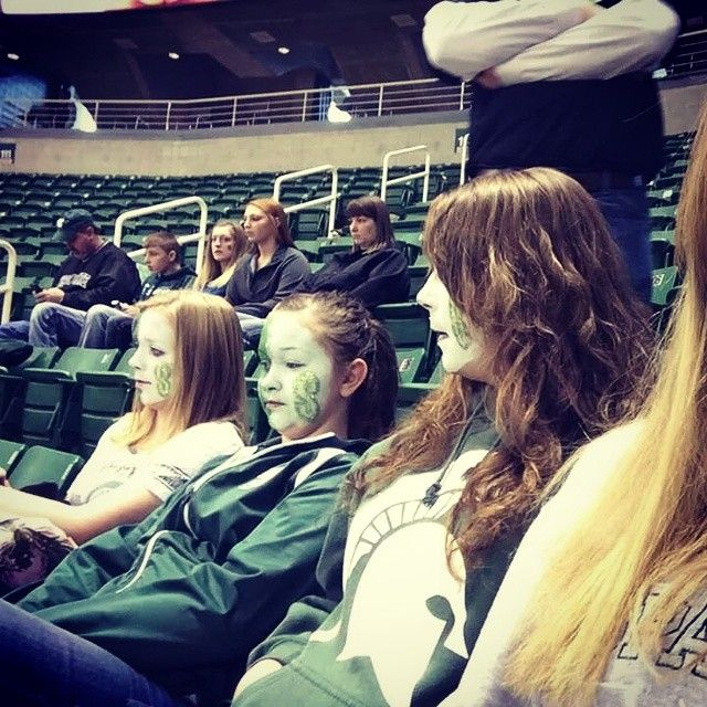 Michigan state basketball game with Brian's, and Libby #MichiganState #spartans #Padgram