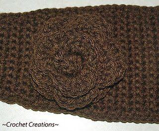 Crochet headband patternCrochet Creative, Free Pattern, Crochet Flower, Amy'S Crochet, Flower Headbands, Creative Creations, Headbands Pattern, Crochet Crafts, Crochet Headbands