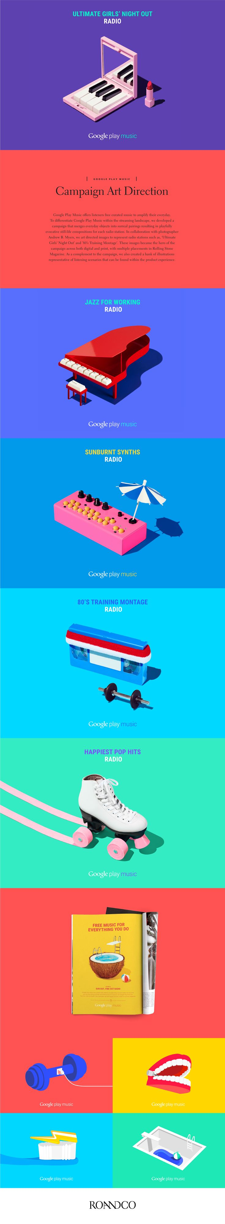 Google Play Music offers listeners free curated music to amplify their everyday. To differentiate Google Play Music within the streaming landscape, we developed a campaign that merges everyday objects into surreal pairings resulting in playfully evocat…