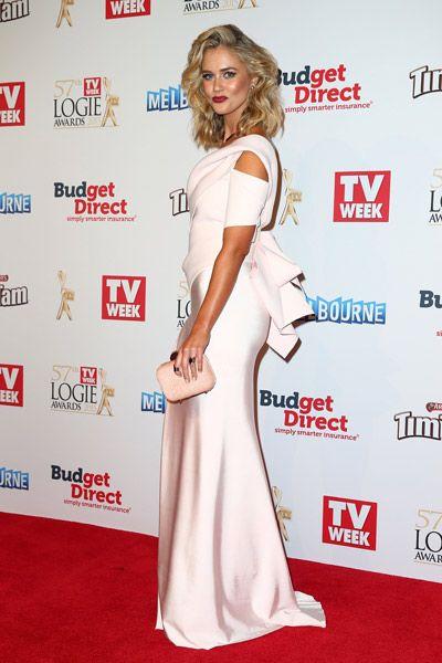 Scherri-Lee Biggs wearing Cappellazzo Couture at the 2015 Logie Awards.