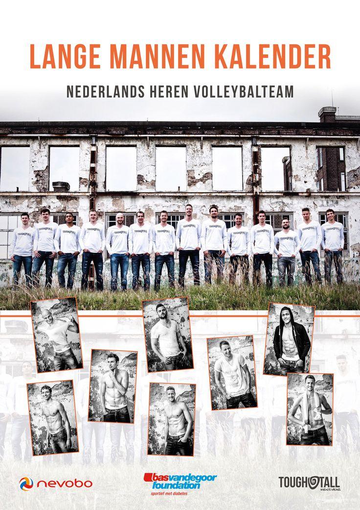 Lange mannen kalender met Oranje volleybalteam