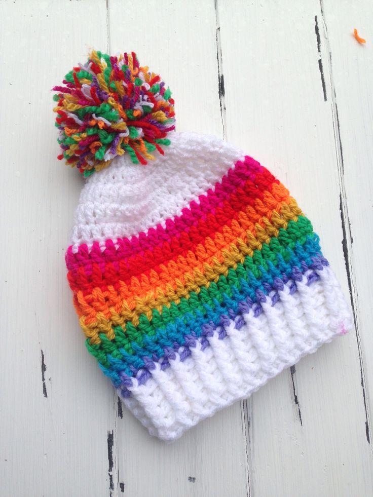 Rainbow Kids Slouch Beanie