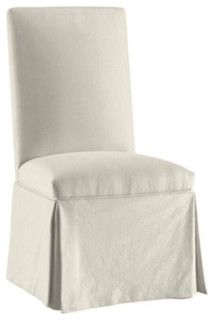 Parsons Chair Monogrammed Slipcover - traditional - dining chairs and benches - by Ballard Designs