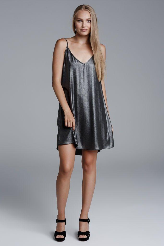 CKONTOVA mini dress for hot parties!! Silver