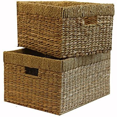 jcp | Baum-Essex Set of Two Tall Storage Baskets