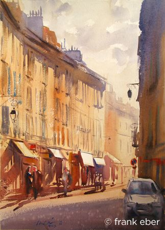 Frank Eber : Original watercolor landscape paintings : The France gallery--Aix is one of my favorite spots in all of France!