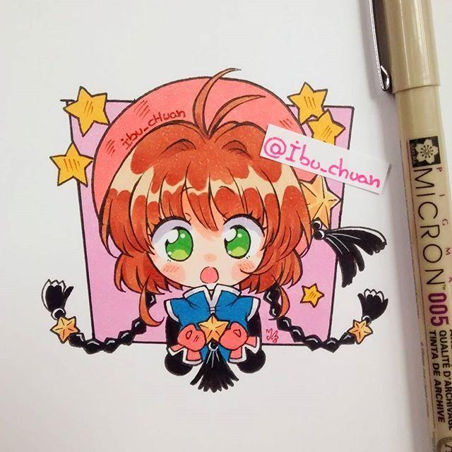 chibi rapidin de Sakura ❣ No quería irme sin dejar un dibujo, me voy a cazar…