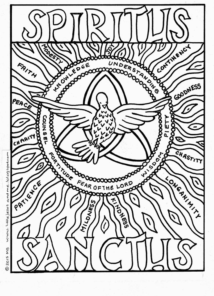 53 best images about coloring pages on pinterest divine for Pentecost coloring pages