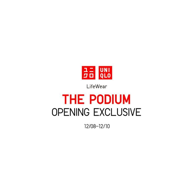LAST DAY TODAY: Uniqlo The Podium Opening Promo. CLICK HERE for more details: https://dealspinoy.com/last-day-today-uniqlo-the-podium-opening-promo/ #DealsPinoy