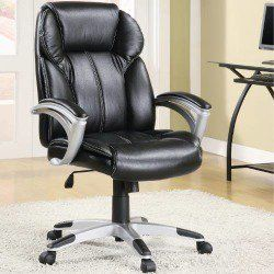 Coaster Furniture 800038 Casual Faux Leather Office Chair In Black
