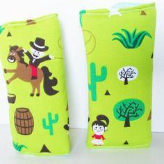 Cover - Cinture - Sicurezza - Bambini  - Auto - Cowboy - Verde . https://www.alittlemarket.it/boutique/la_medusa_creativa-3103786.html