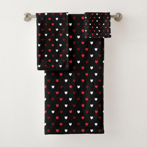 Red And Black Bath Towels Bathroom Towels Bath Towel By Augustave