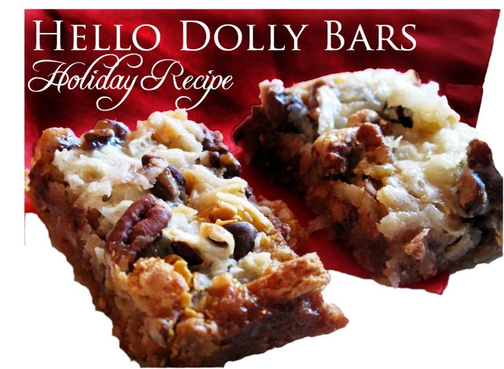 ... | Pinterest | Hello Dollies Bars, Hello Dolly and Holiday Baking