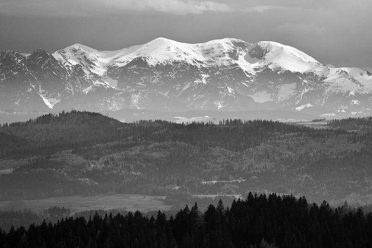 Tatra Mountains: Czerwone Wierchy from Polana Gronie (53 km away)