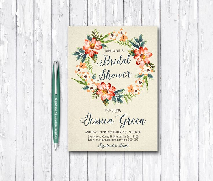 Fall Bridal Shower Invitation Printable, Floral Bridal Shower, Boho Bridal Shower, Boho Birthday Invitation, Digital File - pinned by pin4etsy.com