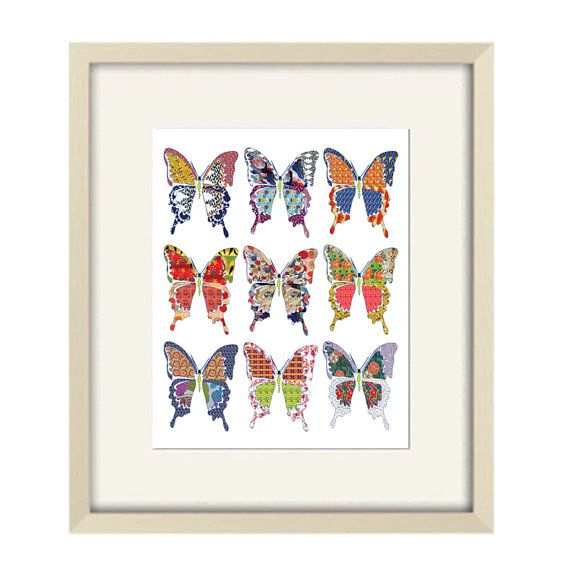 Abstract art print butterfly nursery art modern by OzscapeDesigns, $18.75