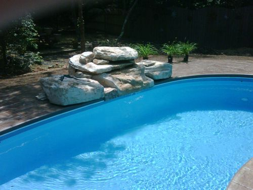 1000 Images About Swimming Cool Pool Rock Waterfall Fountain On Pinterest Colors Planters