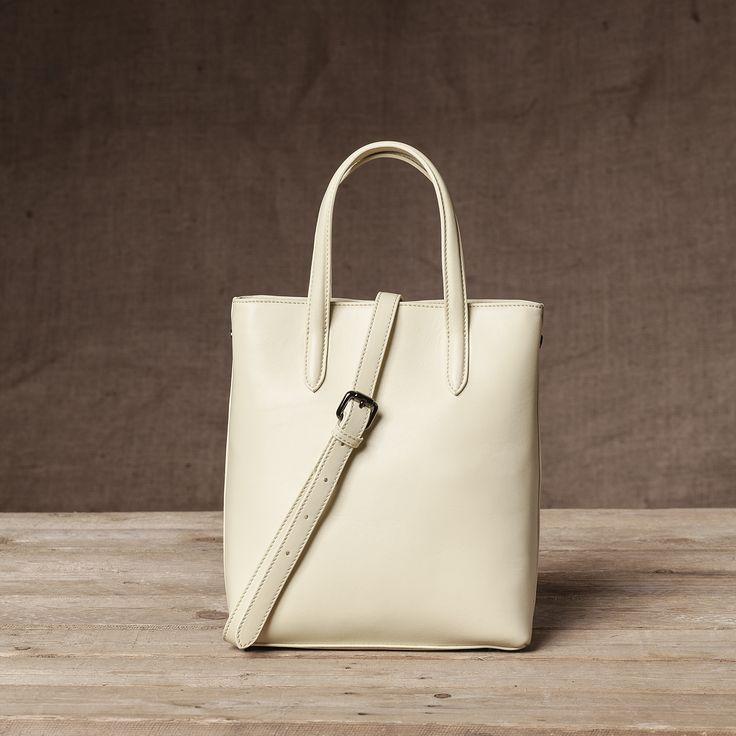 Monaco Mini Shopper in Pear - Back View #Mini #Shopper #Pear #Handbag #FW15 #Nappa #Leather