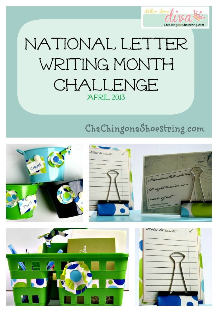April is National Letter Writing Month - take the challenge with me!