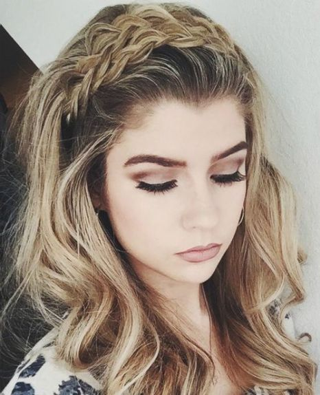 wavy hairstyle with a braided headband http://scorpioscowl.tumblr.com/post/157435484840/more