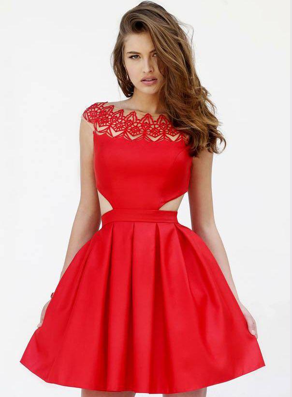 Boutique A-Line Off-The-Shoulder Short Prom Dress