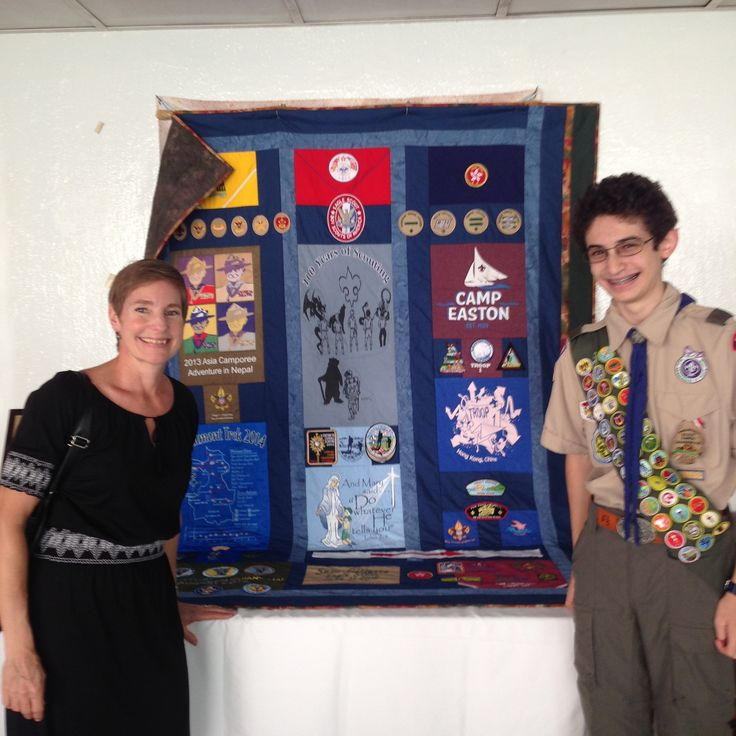 Boy scout memory quilt