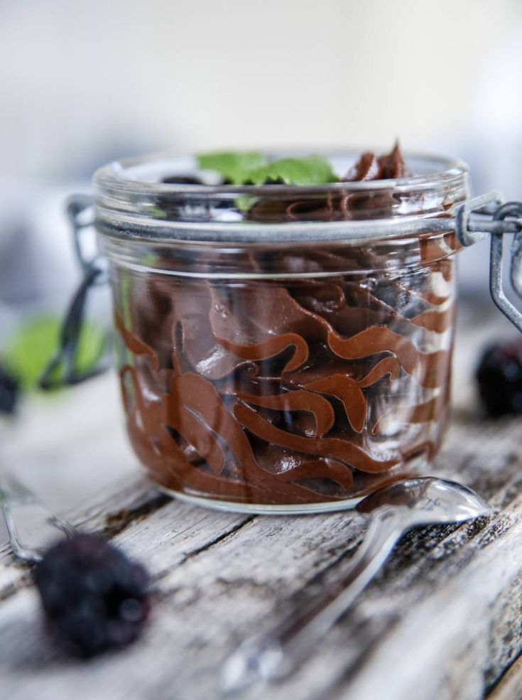 chokladmousse på avokado