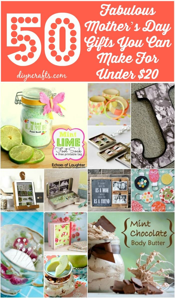50 Fabulous Mothers Day Gifts You Can Make For Under 20