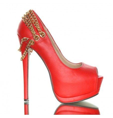 sexy czerwone szpilki