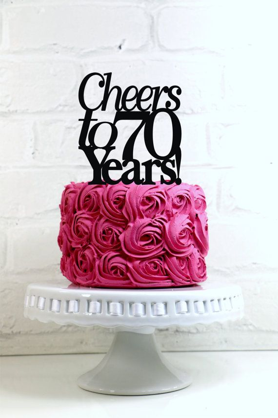 Cheers to 70 Years 70th Anniversary or Birthday by WyaleDesigns