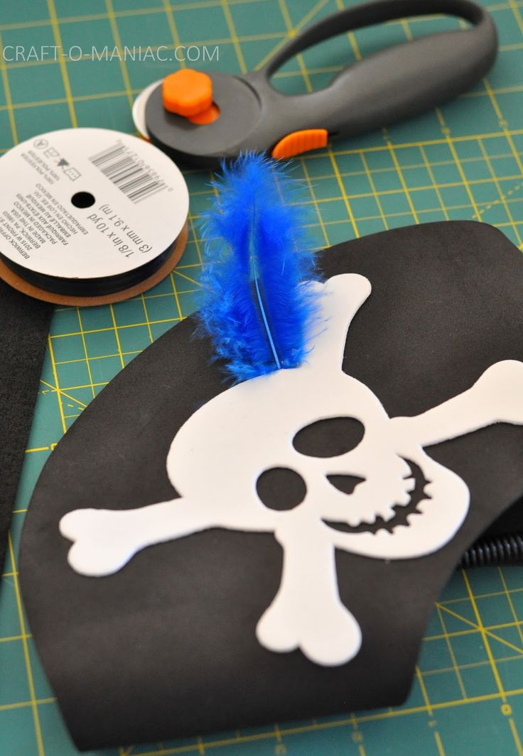 diy pirate costume | cute feather to a pirate foam hat. I think you can find these pirate ...