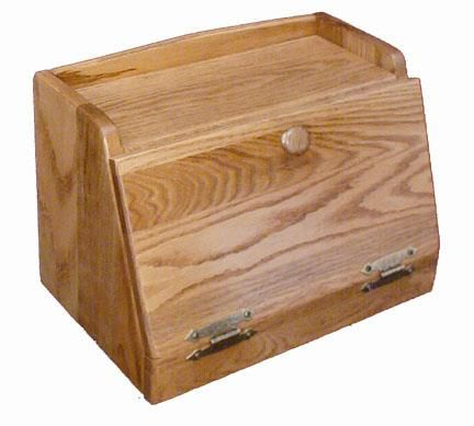 Amish Made Bread Box with Bottom Hinge